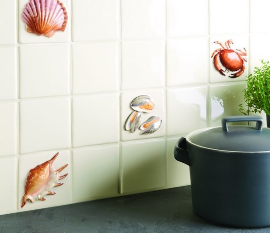Beach Tile Art For Bathrooms And Kitchens Inspired From