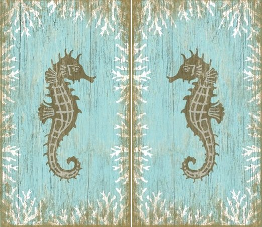 Seahorse Wood Signs