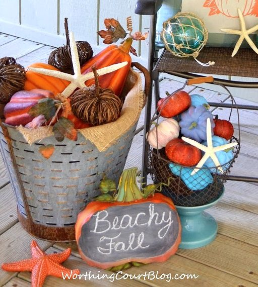 Beach Theme Fall Decor Porch