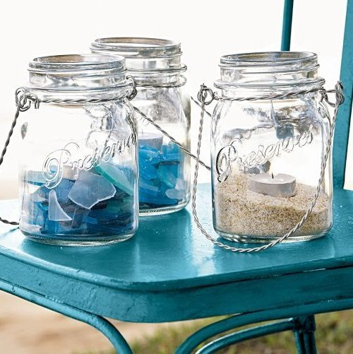 Beach Glass Lanterns