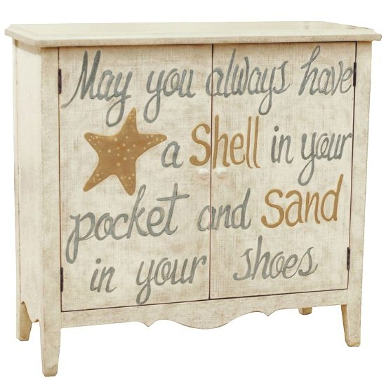 Pulaski Painted Shell Chest with Quote