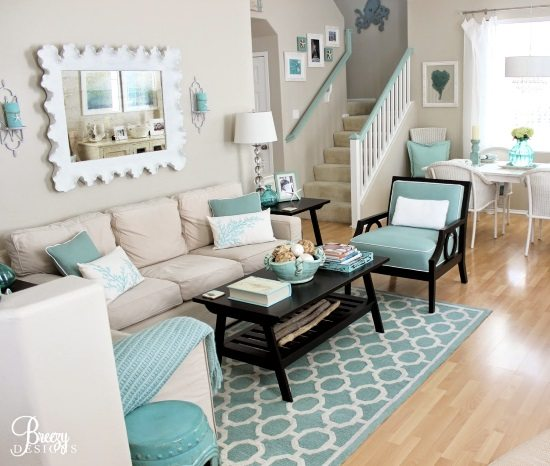 Aqua Seafoam Living Room
