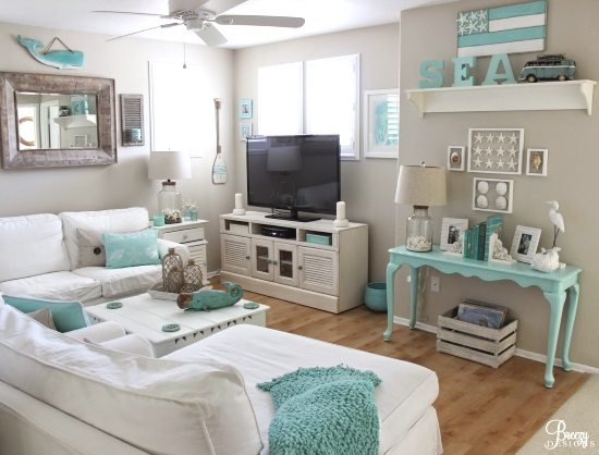 Easy Breezy Living In An Aqua Blue Cottage Beach Bliss Living Decorating