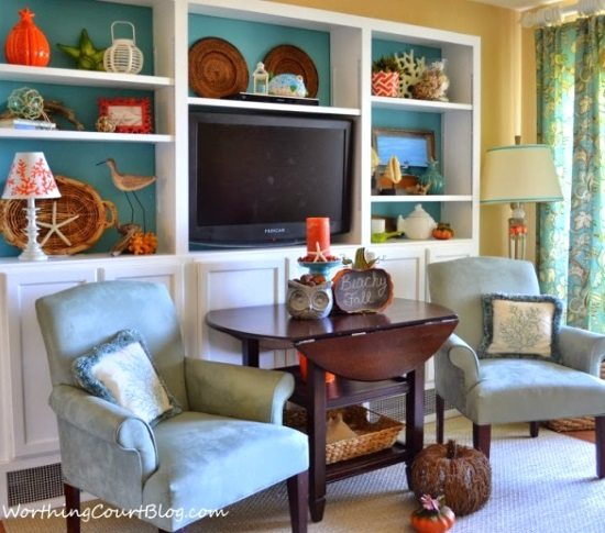 Beach Condo Fall Decor