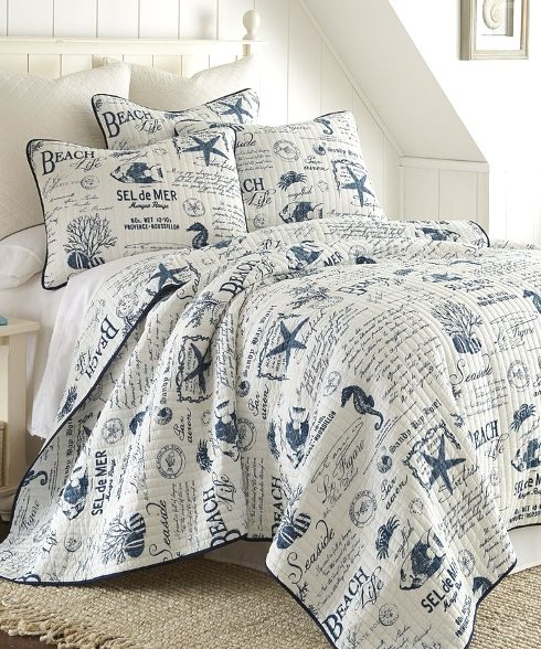 Beach Word Bedding Zulily