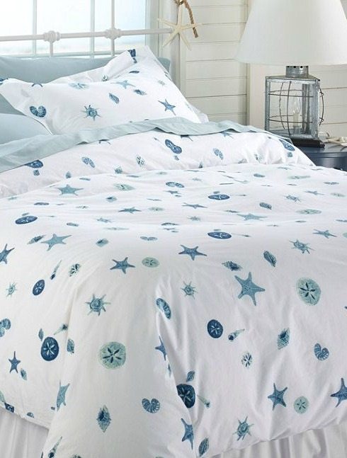 Blue Seashell Bedding