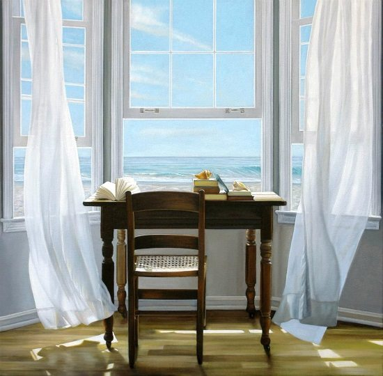 Desk Looking Out To Sea Painting