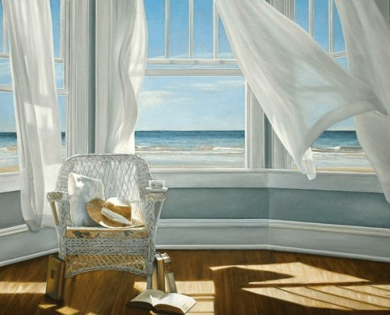 Ocean View Window Paintings