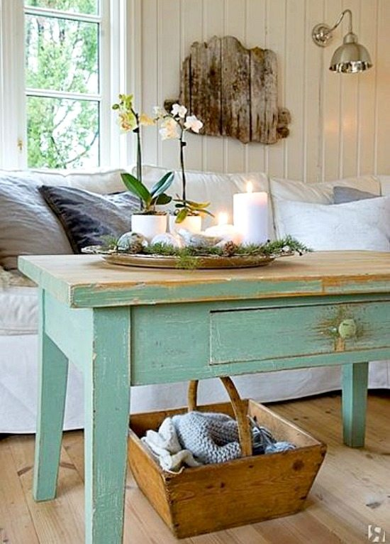 Shabby Chic Coffee Table Original Source Unknown White Shabby Chic Beach Decor