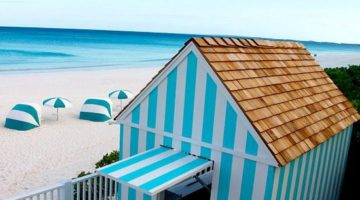 Pink Sand Beach & Cabana Stripes on Harbour Island