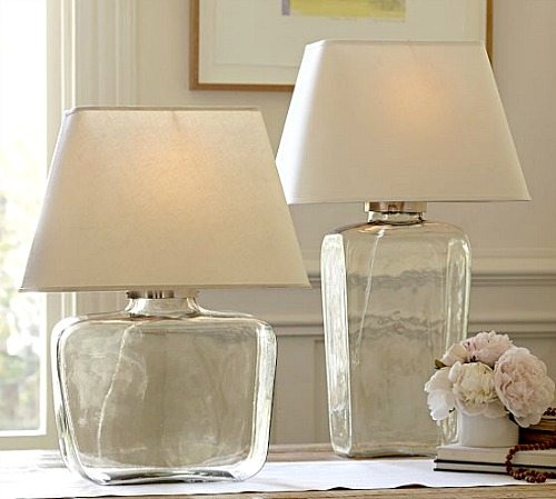 The perfect lamps for beach bliss living pottery barn glass table lampe aloadofball Image collections