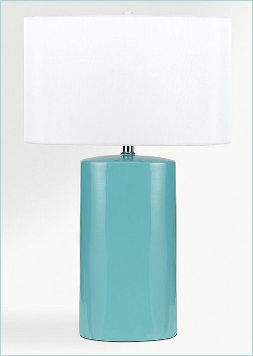 Aqua Ceramic Table Lamp