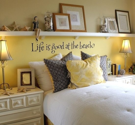 Beach Quote Wall Decal Above Bed