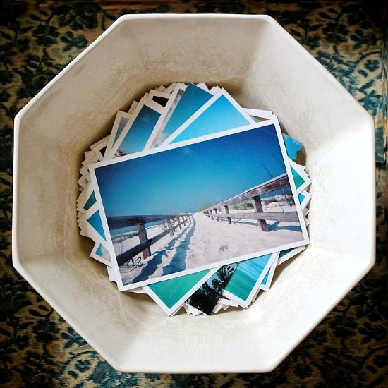 Beach Vacation Photo Display Idea