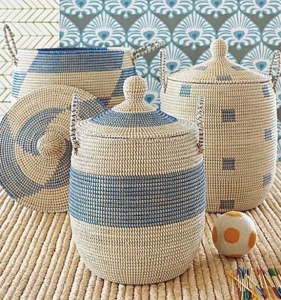 Blue Storage Baskets