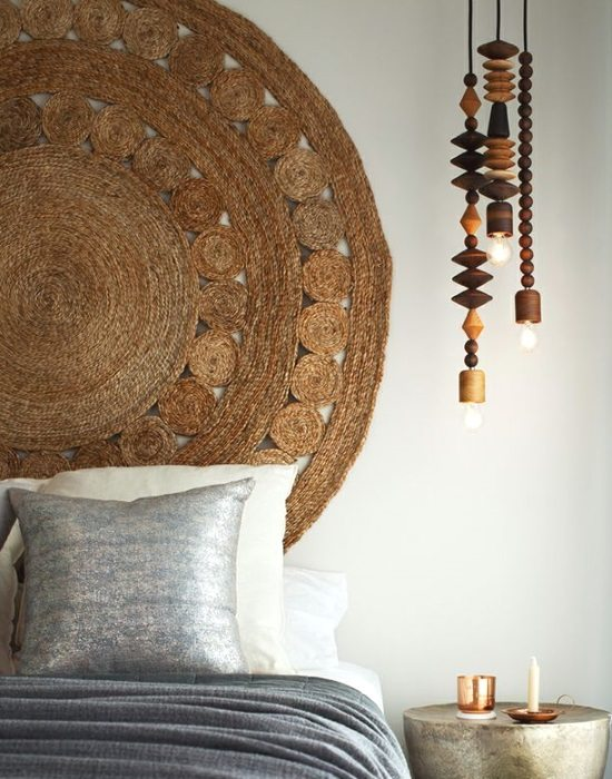 Hang Rug above Bed