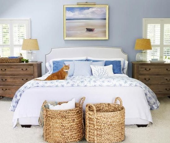 Round Wicker Baskets Bedroom