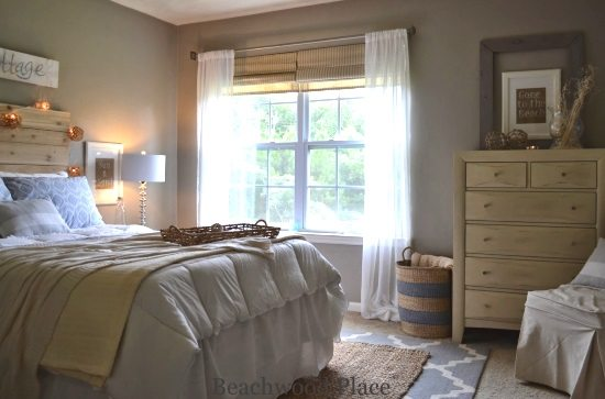 Sandy Beige Beach Guest Bedroom