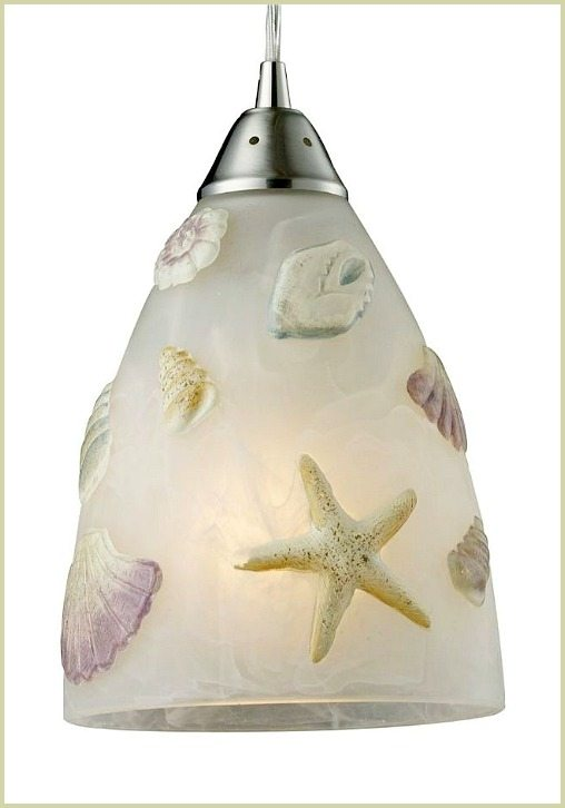 Shell Starfish Seashore Light Pendant Glass