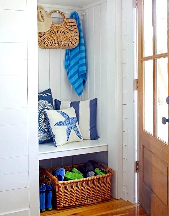 Beach Entryway Storage Basket