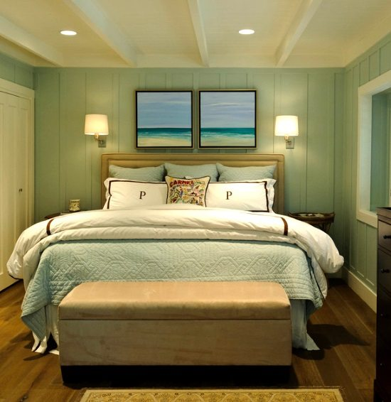 Two Beach Paintings above Bed