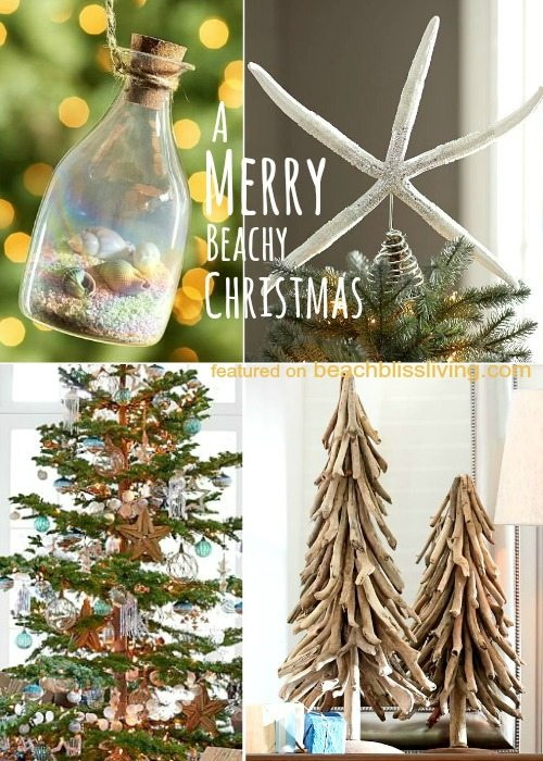 beach christmas decorations from pottery barn - Beach Christmas Decorations