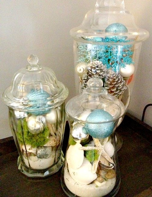 Beach Christmas Jars