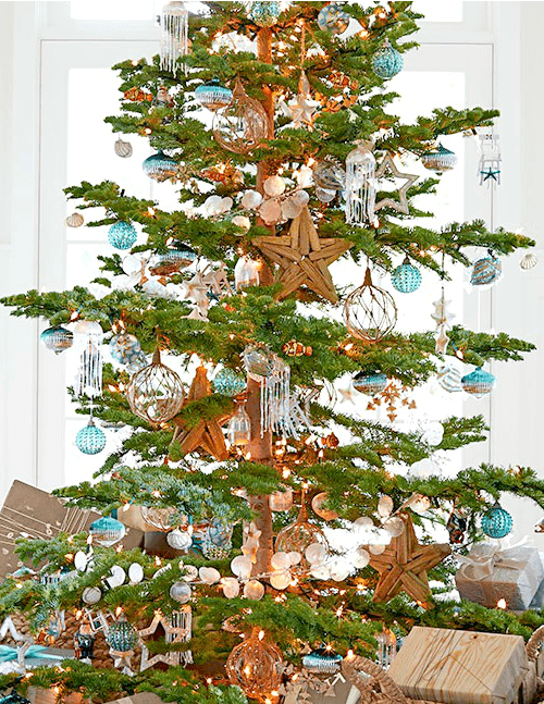beachy christmas tree pottery barn - Beach Themed Christmas Decorations