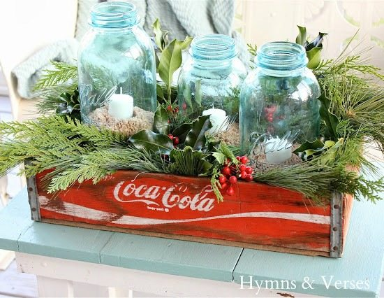 Blue Christmas Jars