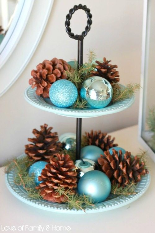 decorating with blue and silver christmas ornaments - Teal And Silver Christmas Decorations