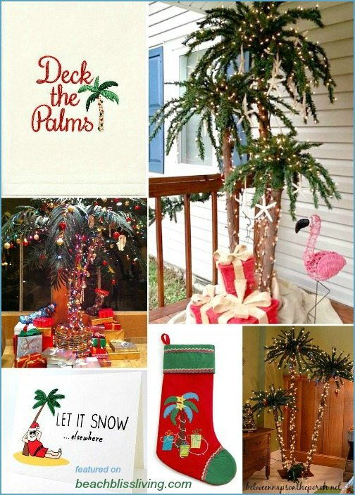 deck the palms palm christmas decor trees - Palm Tree Christmas Tree