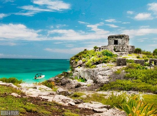 Ruins by the Beach in Tulum