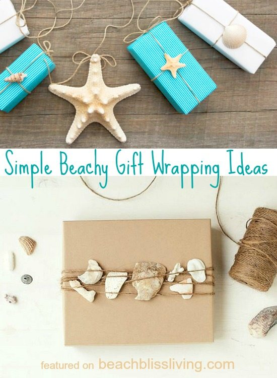 Simple Gift Wrapping Ideas with Shells