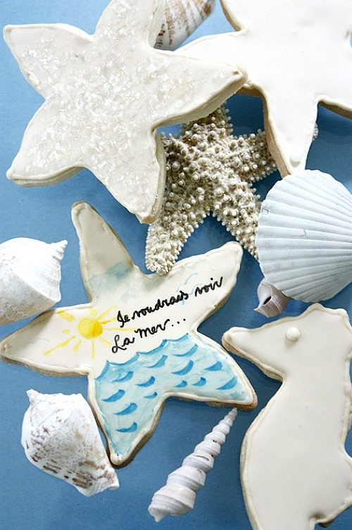 Painted Sea Star Cookie Decoration