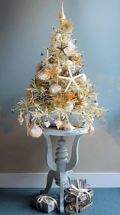 The most marvellous mini beach christmas trees by tree for Small designer christmas trees