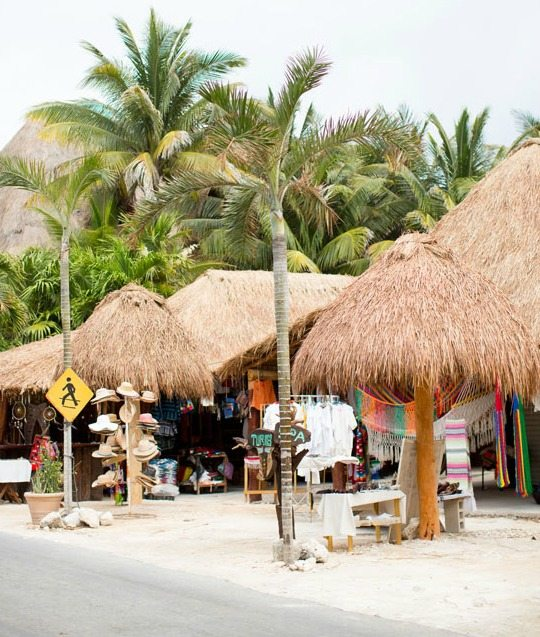 Town of Tulum Mexico