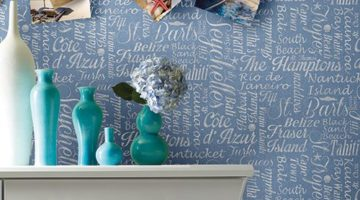 Dream Beach Destination Typography Wall Coverings