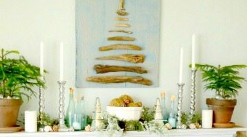 Beach Christmas Mantel