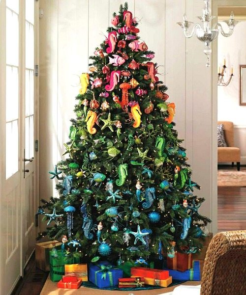 colorful beach christmas tree - Coastal Christmas Decorations For Sale