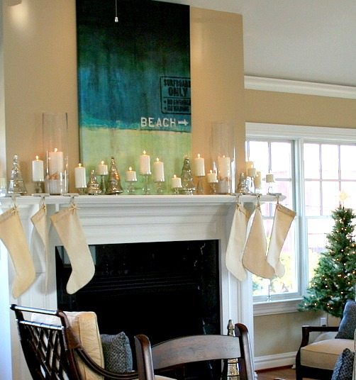 Beach This Way Christmas Mantel