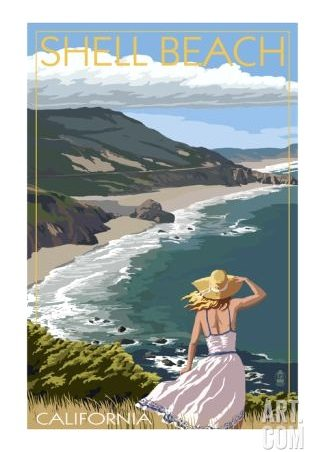 California Coast Travel Poster