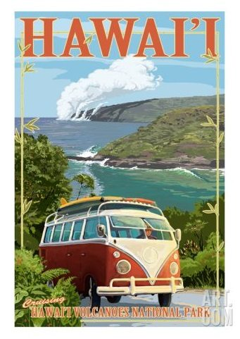 Hawaii Travel Ad Poster