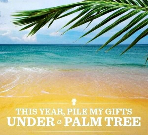 Pile my Gifts under a Palm Tree