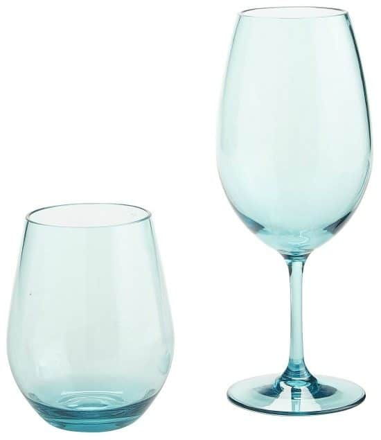 Blue Acrylic Drinking Glasses Wine
