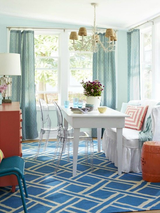 Beach Cottage Dining Room Blue