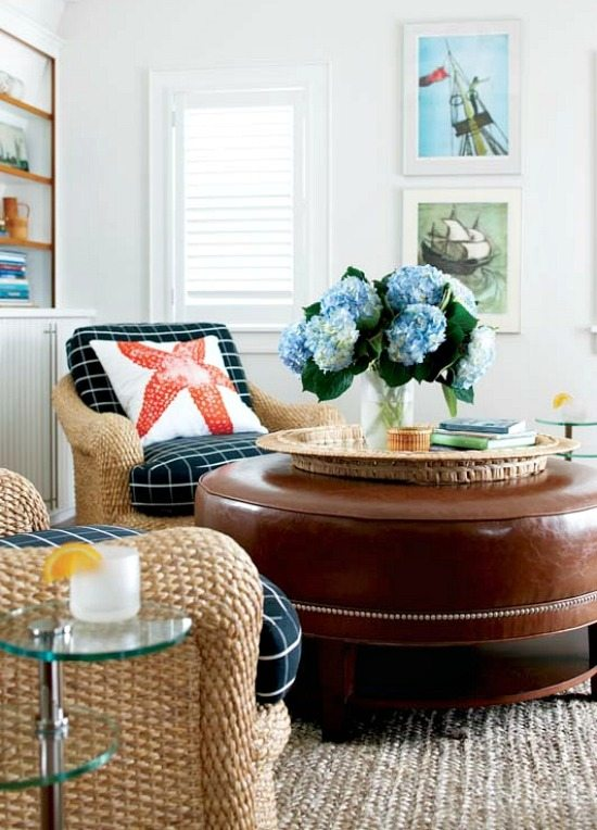 Nantucket Cottage Living Room