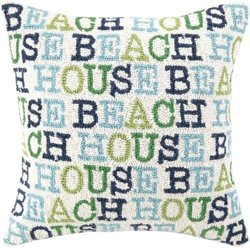 Beach House Word Pillow