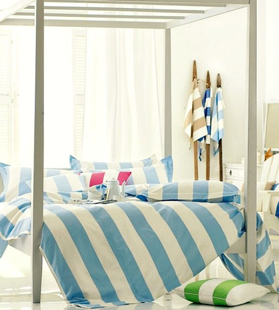 Cabana Stripe Bedding Linens and Duvets