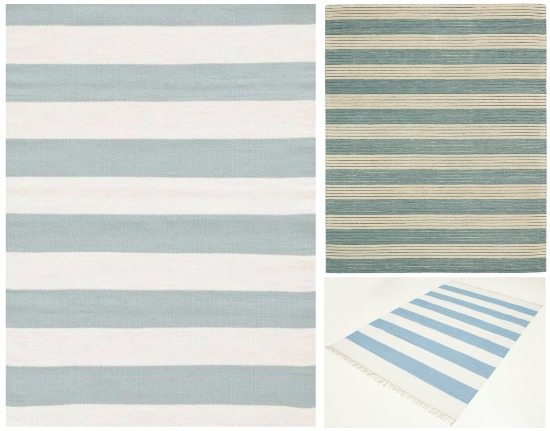 Cabana Stripe Blue Rug