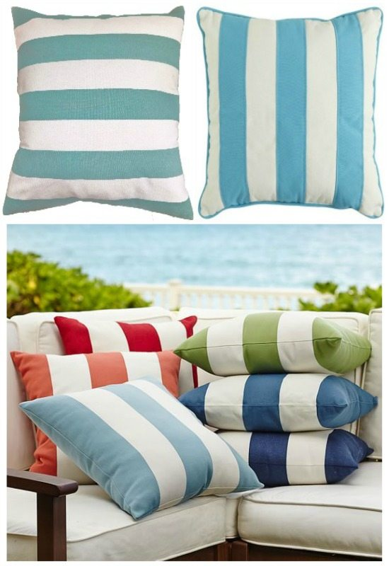 Cabana Stripe Pillow Blue